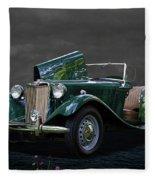 1952 Mg Td Roadster Fleece Blanket