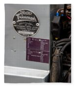 1952 Triumph Renown Limosine --- Vehicle Identification Tags Fleece Blanket