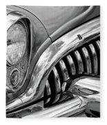 1953 Buick Chrome Bw Fleece Blanket