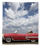 1953 Chevy Bel Air Convertible, Mixed Media, Louis Vuitton Steamer Trunk  Fleece Blanket
