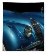 1953 Jaguar 120m  Fleece Blanket