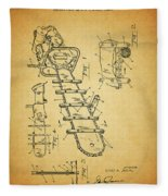 1954 Chainsaw Patent Fleece Blanket