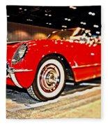 1954 Chevrolet Corvette Number 2 Fleece Blanket