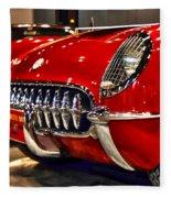 1954 Chevrolet Corvette Number 3 Fleece Blanket