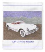 1954 Corvette Roadster Fleece Blanket