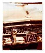 1955 Ford Fairlane Fleece Blanket