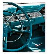 1956 Chevrolet Belair Interior Hdr No 1 Fleece Blanket
