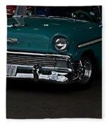 1956 Chevy 210 Fleece Blanket