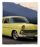 1956 Ford Fairlane Club Coupe Fleece Blanket