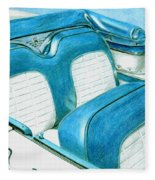1956 Ford Fairlane Convertible 1 Fleece Blanket