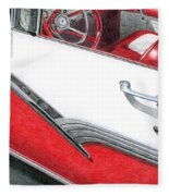 1956 Ford Fairlane Convertible 2 Fleece Blanket