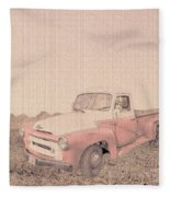1956 Ford S120 International Truck Fleece Blanket