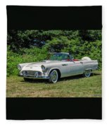 1956 Ford Thunderbird Fleece Blanket