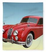 1956 Jaguar Xk 140 Mc Fleece Blanket
