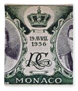 1956 Princess Grace Of Monaco Stamp II Fleece Blanket