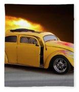 1956 Vw 'hot Rod' Bug II Fleece Blanket
