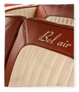 1957 Chevrolet Bel Air Seats Fleece Blanket