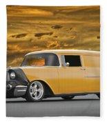1957 Chevrolet Sedan Delivery II Fleece Blanket