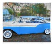 1957 Ford 2 Door Fairlane C130 Fleece Blanket