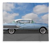 1958 Buick Roadmaster 75 Fleece Blanket