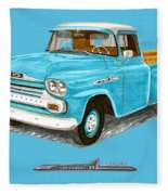 Apache Pick Up Truck Fleece Blanket