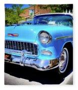 1955 Chevy Baby Blue Fleece Blanket