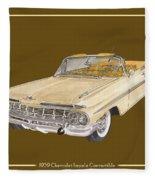 1959 Chevrolet Impala Convertible Fleece Blanket