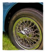 1959 Jaguar X K 150s Wire Wheel Fleece Blanket