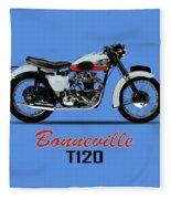 1959 T120 Bonneville Fleece Blanket
