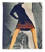 1960 70 Fashion Shot Of Female Model In Usa Fleece Blanket