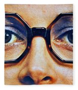 1960 70 Stylish Female Glasses Advertisement 4 Fleece Blanket