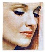 1960 70 Stylish Lady In Red Fleece Blanket