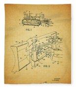 1960 Bulldozer Patent Fleece Blanket