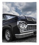 1960 Ford F100 Truck Fleece Blanket