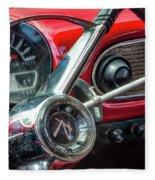 1960 Rambler Dashboard Fleece Blanket