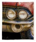 1961 Cadillac Headlight Fleece Blanket