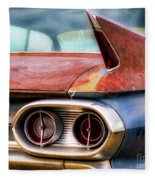 1961 Cadillac Tail Light And Fin Fleece Blanket