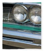 1961 Pontiac Catalina Grille With Headlights And Logo Fleece Blanket