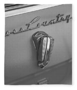 1961 Rambler Emblem B And W Fleece Blanket