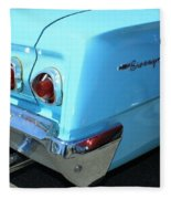 1962 Chevy - Chevrolet Biscayne Logos And Tail Lights Fleece Blanket