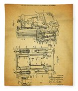 1962 Forklift Patent Fleece Blanket