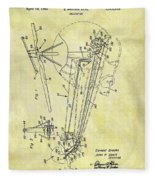 1962 Helicopter Patent Fleece Blanket