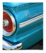 1963 Ford Falcon Tail Light And Logo Fleece Blanket