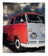 1963 Volkswagen Double Cab Truck Fleece Blanket
