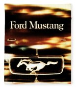 1964 Ford Mustang Fleece Blanket