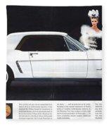 1964 Ford Mustang Muscle Fleece Blanket