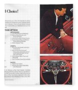 1964 Ford Mustang-06-07 Fleece Blanket