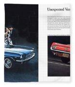 1964 Ford Mustang-08-09 Fleece Blanket