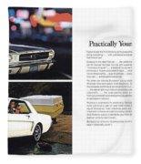 1964 Ford Mustang-10-11 Fleece Blanket