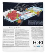 1964 Ford Mustang-12 Fleece Blanket